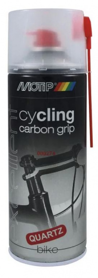 Korting Motip Montagespray Cycling Carbon Grip 400 Ml Vet kwarts Zwart