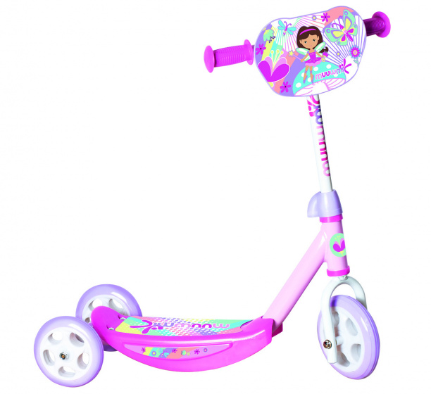 Muuwmi 3 wiel kinderstep Dora Junior Voetrem Roze