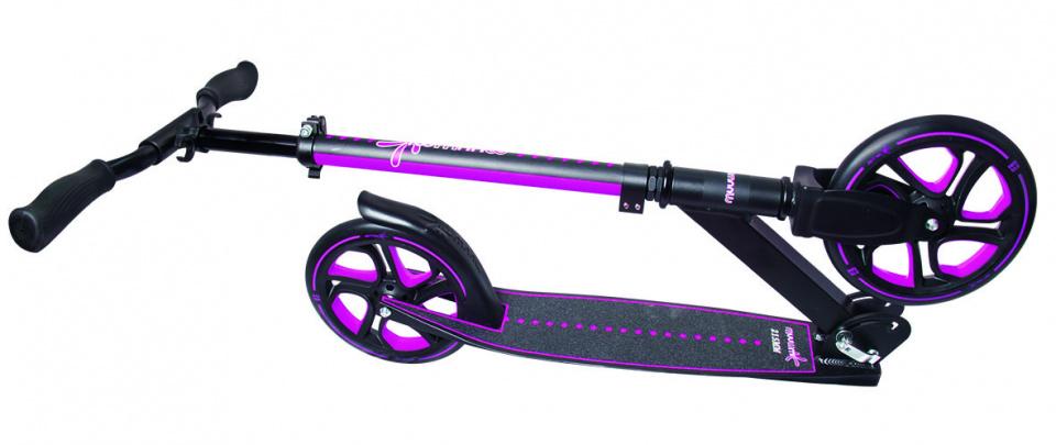 Muuwmi Scooter Pro 250 Junior Voetrem Roze/Zwart