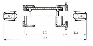 Neco Kogellager Trapas BSA Aluminium 119mm