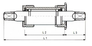 Neco trapas set 131/34 mm (voor Shimano) BSA JIS