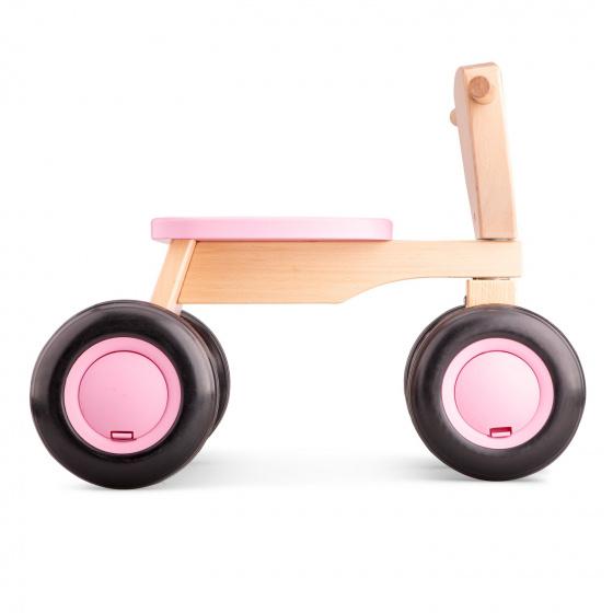 New Classic Toys loopfiets Road Star 4 wielen 50 cm hout roze
