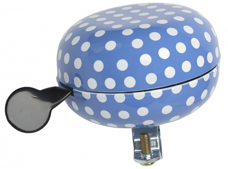 New Looxs fietsbel Polka 80 mm blauw/wit