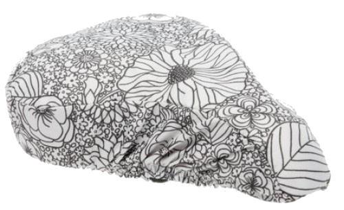 New Looxs zadeldekje Kathy 27 x 23 x 7 cm zwart/wit