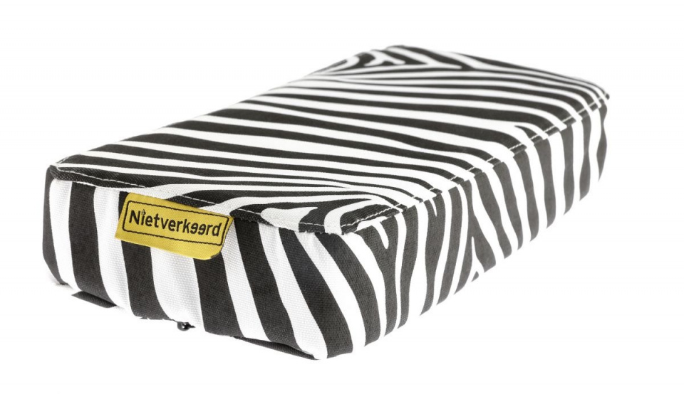 Korting Niet Verkeerd Bagagedragerkussen Zebra 32 X 15 Cm Pvc Zwart wit