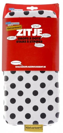 Niet Verkeerd bagagedragerkussen Dots wit 32 cm