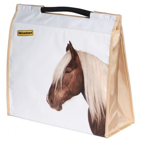 Niet Verkeerd shopper Paard 20 liter lichtbruin/wit