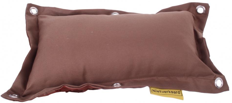 Niet Verkeerd bagagedragerkussen Fat bruin 35 cm