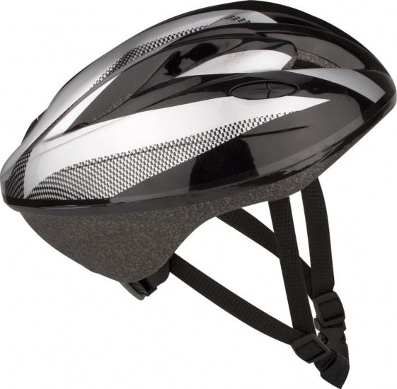 Nijdam - Skate-/fietshelm Senior Zwart Wit Maat 58/60 Cm