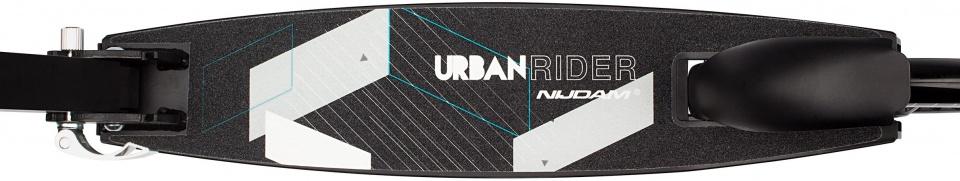 Nijdam Urban Rider step Junior Voetrem Zwart