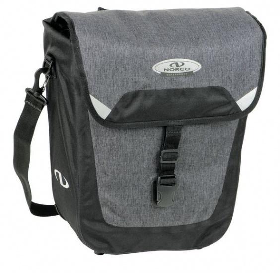 Norco schouder /fietstas Waterford Citybag 16 liter zwart/grijs