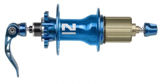 Novatec achternaaf D792SB schijfrem 32 gaats blauw