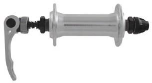 M Wave Naaf Voor Aluminium 36 Gaats Zilver Met Quick Release