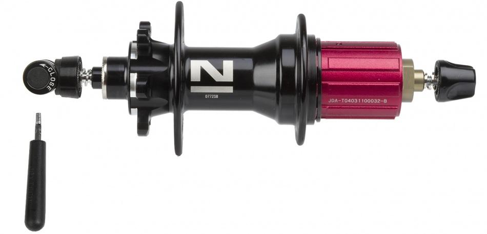 Novatec achternaaf D772SB/A 24 gaats zwart