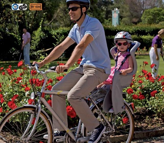 OK Baby fietszitje achter Bodyguard zilver/blauw