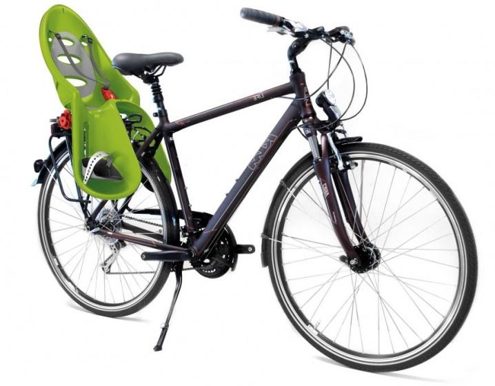 OK Baby fietszitje achter Eggy groen/grijs