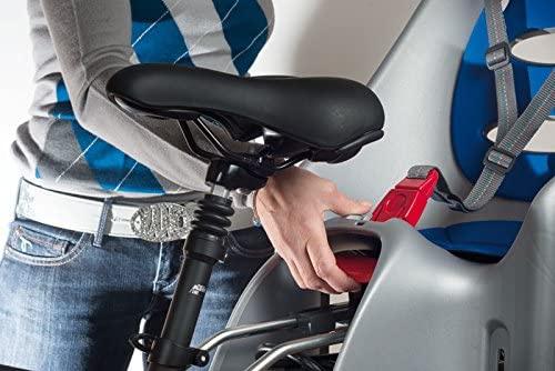 OK Baby fietszitje achter Eggy zilvergrijs/blauw