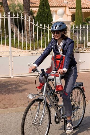 OK Baby fietszitje voor Orion grijs/rood