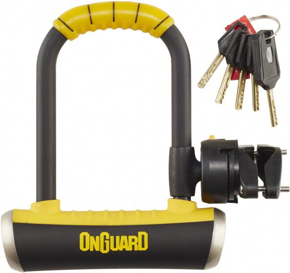 Onguard u slot Pitbull 140 x 90 x 14 mm staal zwart/geel