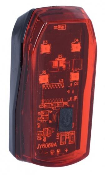 OXC achterlicht BrightStop led batterijen rood