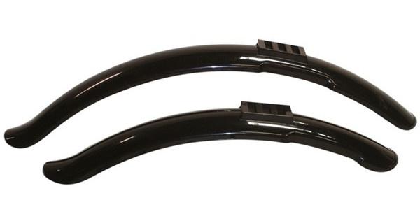 OXC clip on spatbordenset 20 inch 45 mm zwart