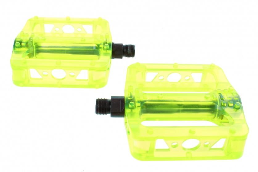 OXC platformpedalen Crystal BMX 95 mm set geel