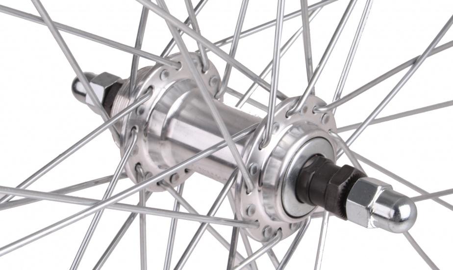 Paralex Achterwiel 28 x 1 3/8 velgrem aluminium 36G zilver
