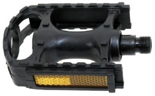 M Wave Platformpedaal MTB Kunststof 9/16 Inch zwart set