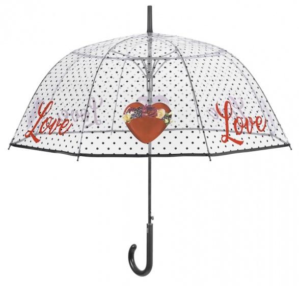 Parapluie d/ôme Transparent pour Enfant Motif Transport