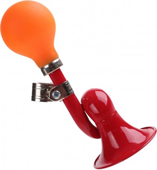 Pexkids fietstoeter 17 cm oranje/rood