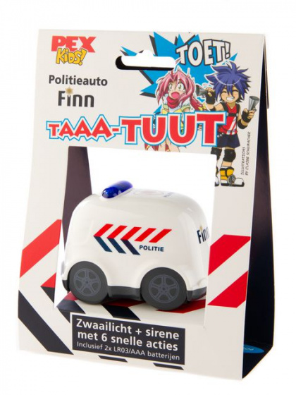 Pexkids toeter politieauto Finn junior wit
