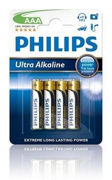 Philips batterijen Penlite LR03 Extremelife 1.5V AAA per 4 stuks