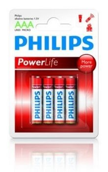 Philips batterijen Penlite LR03 1.5V AAA per 4 stuks