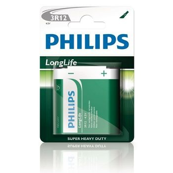 Philips batterij plat 3R12P Longlife 4.5V per stuk