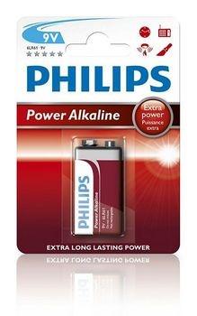 Philips Batterij Power Alkaline 6LR61 9V