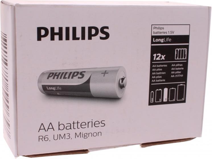 Philips batterijen AA Longlife R6 1.5V 48 stuks