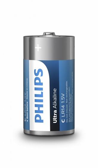 Philips batterijen C/LR14 Ultra Alkaline 2 stuks