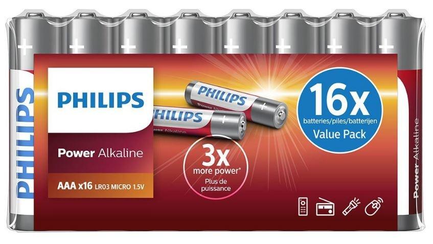 Philips Batterijen LR03 AAA 16 stuks
