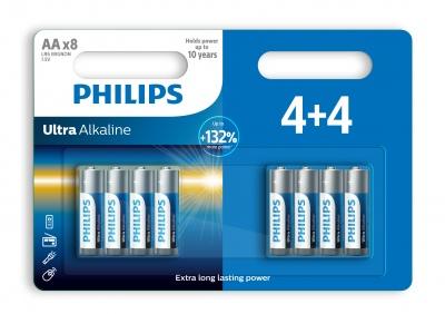 Philips batterijen ultra alkaline LR6/AA 8 stuks