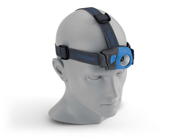 Philips led hoofdlamp HDL10 met hoofdband 100 lumen zwart