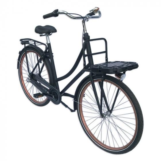 Plates 4 Bikes fietskrat vouwbaar 32 liter rood/zwart 2 delig