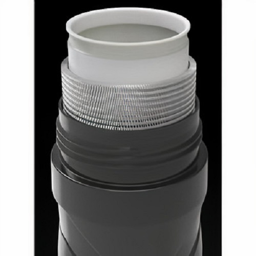 Polisport bidon Thermal T500 500 ml polypropyleen zwart/grijs