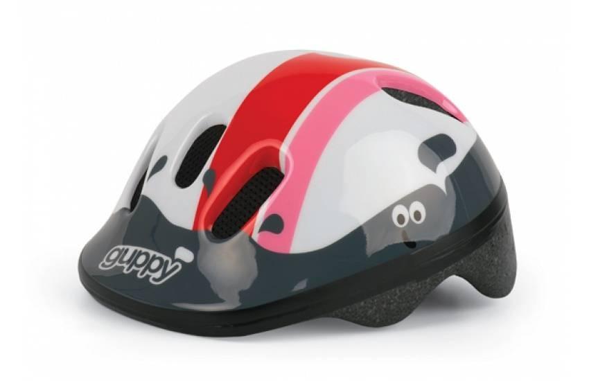 Polisport fietshelm Guppy XS junior maat 46/53 cm roze/wit