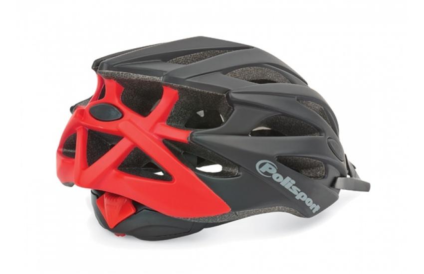 Polisport fietshelm Twig unisex 58/61 cm easy lock zwart/rood
