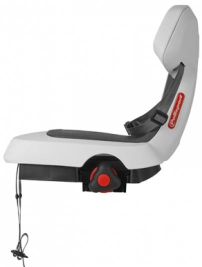 polisport fahrradsitz hinter guppy wei grau internet. Black Bedroom Furniture Sets. Home Design Ideas