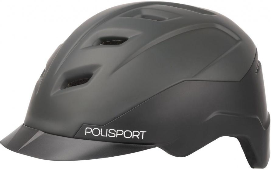 Polisport helm E'City 58 61 cm zwart/grijs