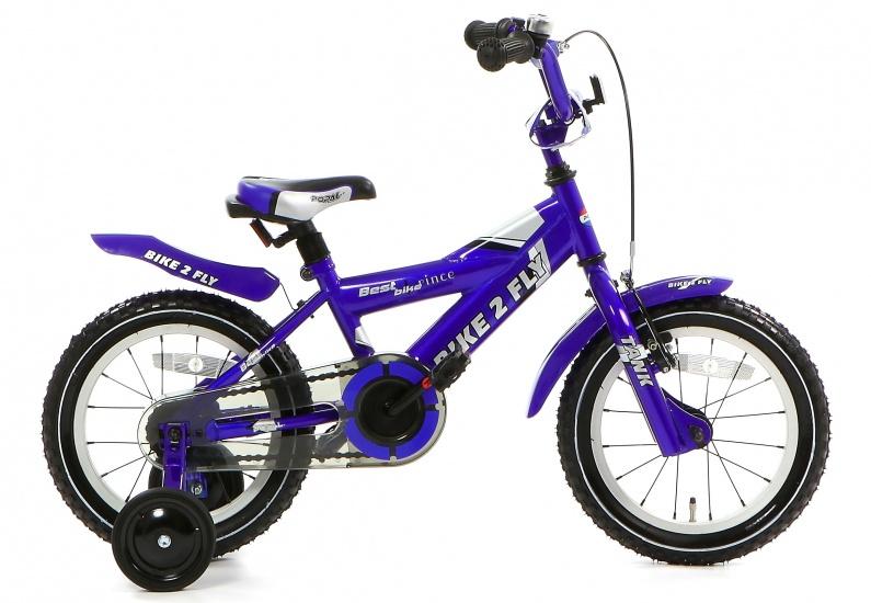 Popal Bike 2 FLY 14 Inch 20 cm Jongens Terugtraprem Blauw