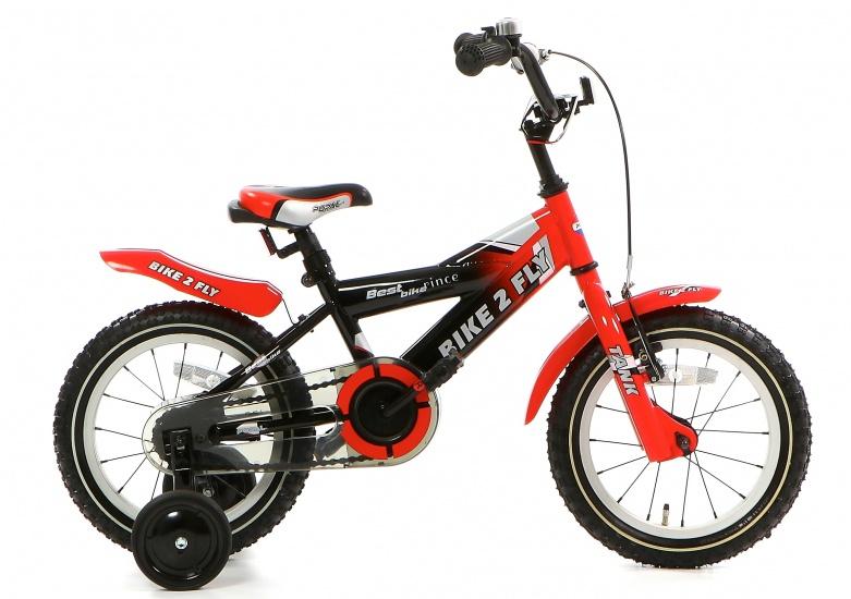 Popal Bike 2 FLY 14 Inch 20 cm Jongens Terugtraprem Rood