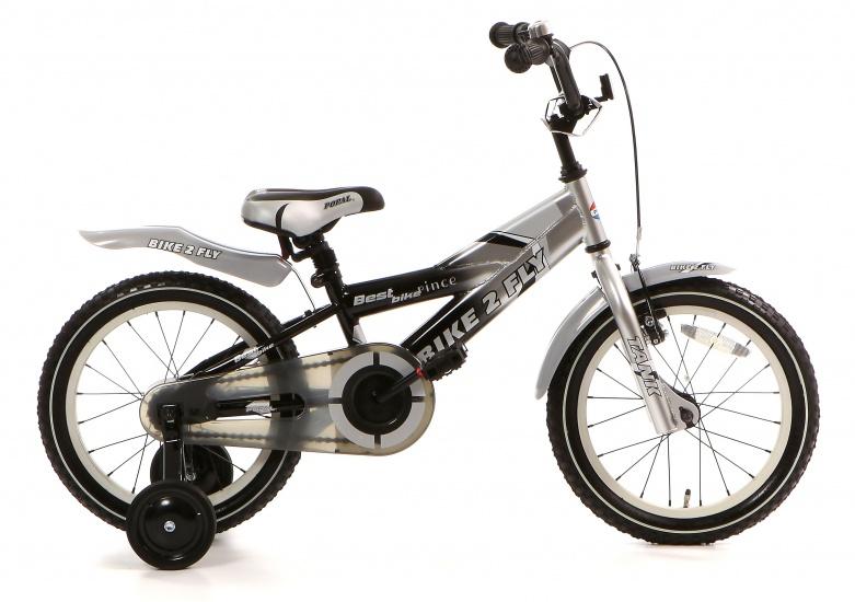 Popal - Bike 2 Fly 16 Inch 21 Cm Jongens Terugtraprem Zwart/zilver