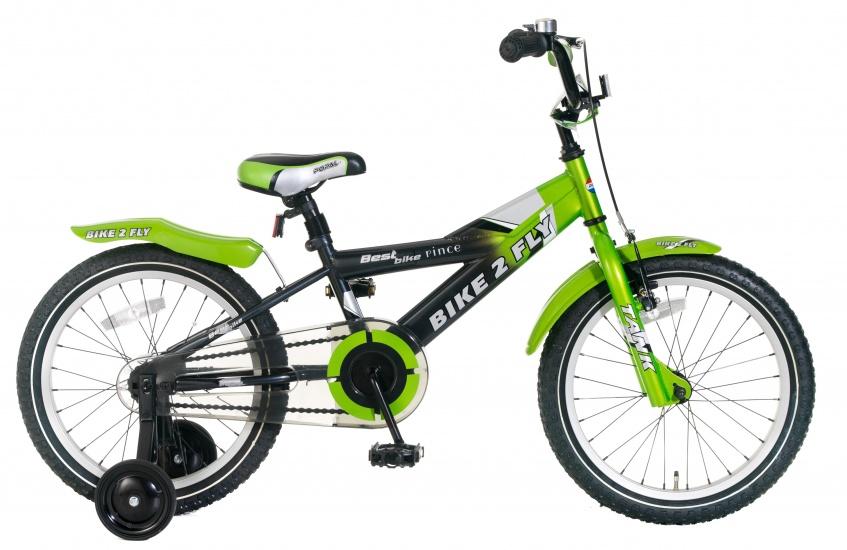 Popal Bike 2 Fly 18 Inch 24 cm Jongens Terugtraprem Groen
